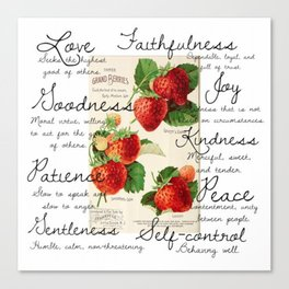 Strawberries and Fruit of the Spirit Explained  Canvas Print