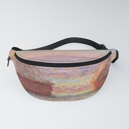 White Frost, Sunrise by Claude Monet Fanny Pack