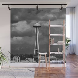 Seattle Skyline - B & W Wall Mural