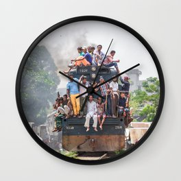 Train in the kitchen Wall Clock