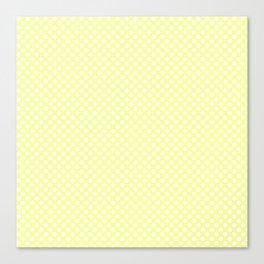 Polka Dots Pattern-Yellow Canvas Print