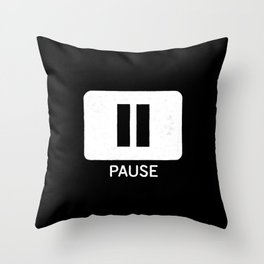 Pause Button Throw Pillow