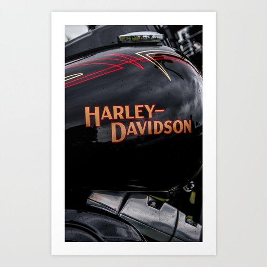 Harley D Art Print