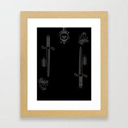 Queen of Shadows Framed Art Print