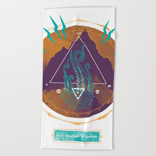 The Mountain of Madness Beach Towel