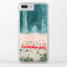 Beach sky view Clear iPhone Case
