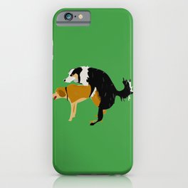 DOGS MATE SEX MAKE LOVE iPhone Case