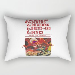 dungeons and dragons red Rectangular Pillow
