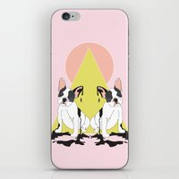 pugs iPhone & iPod Skins featuring Pugs by Anna McKay