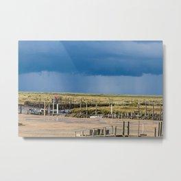 Distant Rains Metal Print