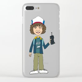 Dustin Illustration Clear iPhone Case