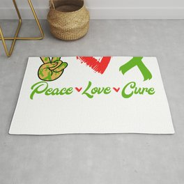 Peace Love Cure Cerebral Palcy Raise Awareness And Share Support On Disease Fighter T-shirt Design Rug
