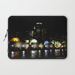 Navy Pier in Living Color: View from the Lake (Chicago Architecture Collection) Laptop Sleeve