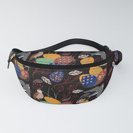 Nest of Pysanky Easter Eggs Nightingales and Swallows Fanny Pack