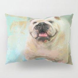 White English Bulldog Pillow Sham