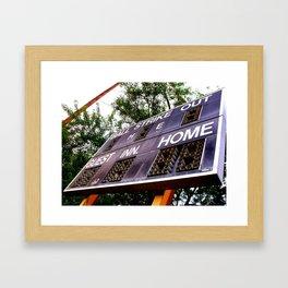 Home Team Framed Art Print