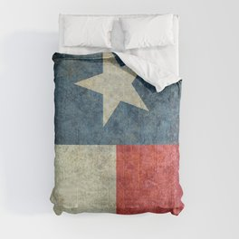 Texas flag, Grungy Vertical Banner Comforters