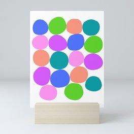 Secondary Rainbow Dots Mini Art Print