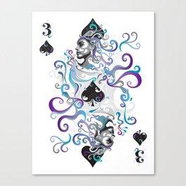 3 of Spade Canvas Print