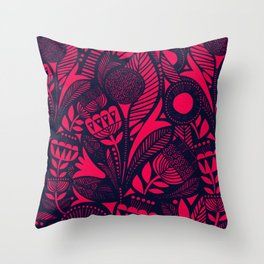 N31 - Lovely Colored Blue & Pink Moroccan Followers Texture Style. Throw Pillow