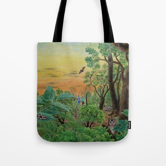 A Day of Forest (9). (the forest at night) Tote Bag