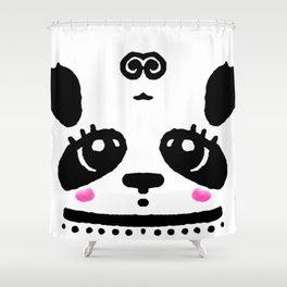 Panda Blush Shower Curtain