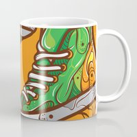 sneaker Mugs featuring Green Sneaker by ArievSoeharto