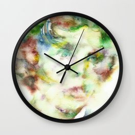 LEWIS CARROLL - watercolor portrait.2 Wall Clock