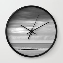 Flying over water. Wall Clock