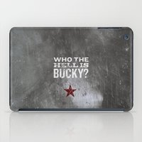 bucky barnes iPad Cases featuring James Buchanan Barnes by Bonnie Detwiller