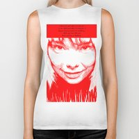 bjork Biker Tanks featuring BJORK by Andhika Tile