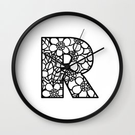 Letter R Wall Clock