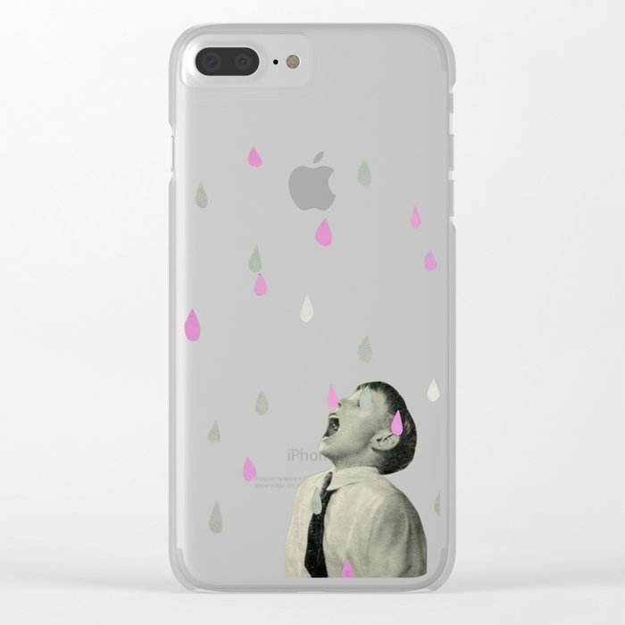 Taste the Rain Clear iPhone Case