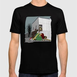 """I'm not wakin' him"" by a.correia T-shirt"
