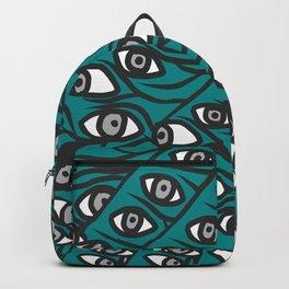 Freddie Eyeballs Teal Aqua Blue Backpack