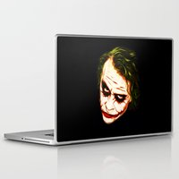 the joker Laptop & iPad Skins featuring Joker by William Cuccio aka WCSmack