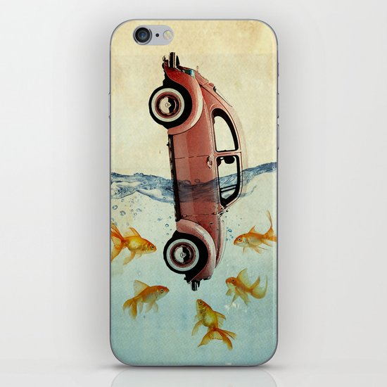 Bug and goldfish iPhone & iPod Skin
