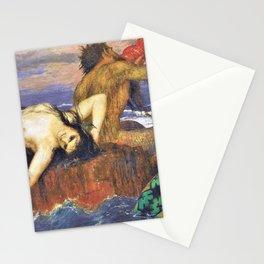 12,000pixel-500dpi - Triton And Nereid - Arnold Bocklin Stationery Cards