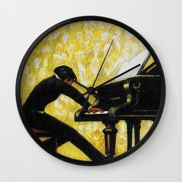 Vintage Piano Recital Illustration (1920) Wall Clock