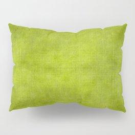 """""""Summer Fresh Green Garden Burlap Texture"""" Pillow Sham"""