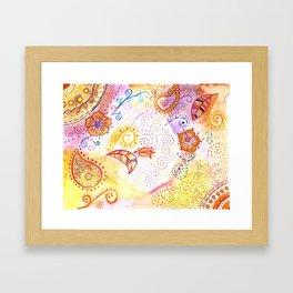 India vibe orange Framed Art Print