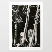 tim burton Art Prints featuring The girls - tim burton by PaperTigress
