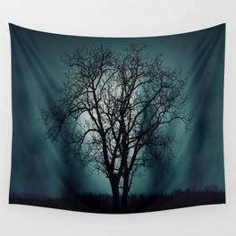 Black Tree Wall Tapestry