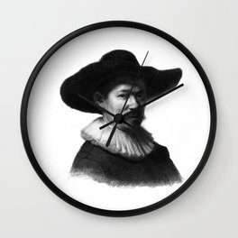 Man in a hat 1 Wall Clock