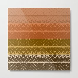 Desert Plateau Tread Plate Metal Print
