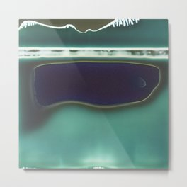 Instang Abstraction in Teal Metal Print