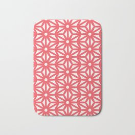 Asanoha Pattern - Coral Bath Mat