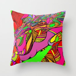 Crazytown. Throw Pillow