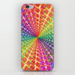 Colorful mosaic pattern design artwork- colorful christmas gifts- pixel art iPhone Skin