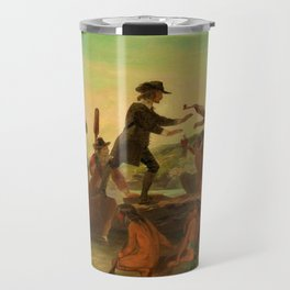 1857 Rhode Island Classical Masterpiece 'The Landing of Roger Williams' by Alonzo Chappel Travel Mug